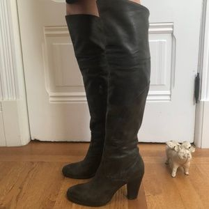 Alberto Fermani Over the Knee Leather Boots